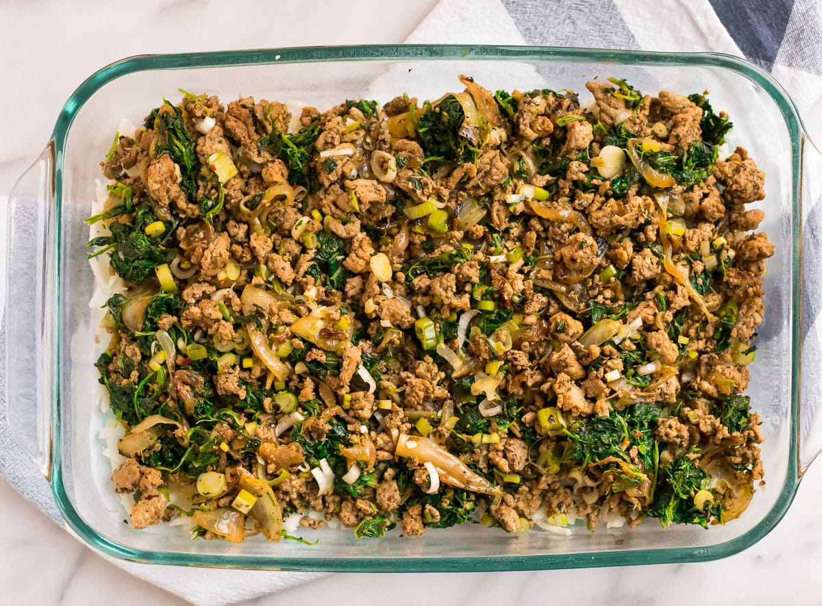 Whole30 ingredients in a baking dish