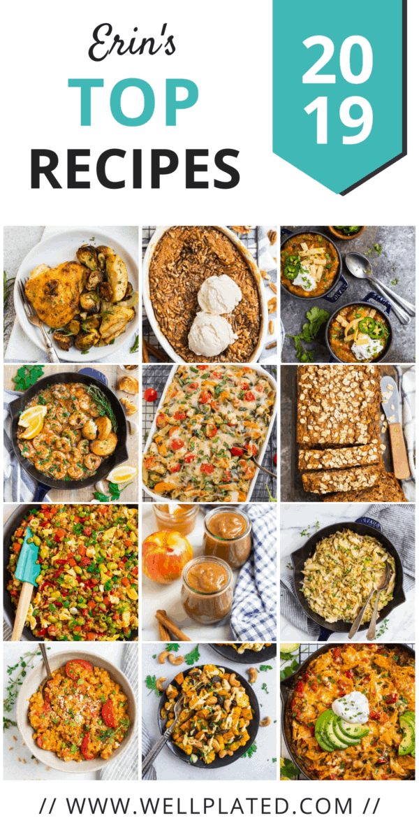 A collage of favorite Well Plated recipes from 2019