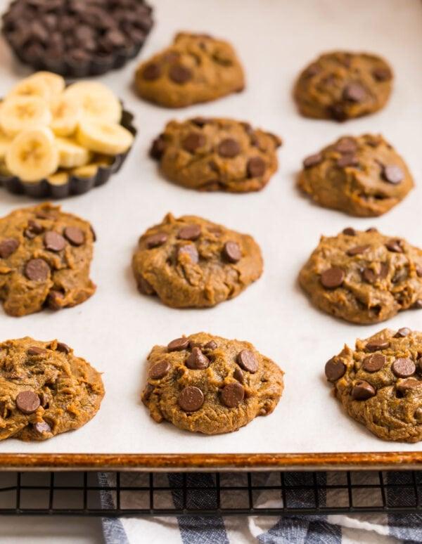 Peanut Butter Banana Cookies Easy Healthy Recipe