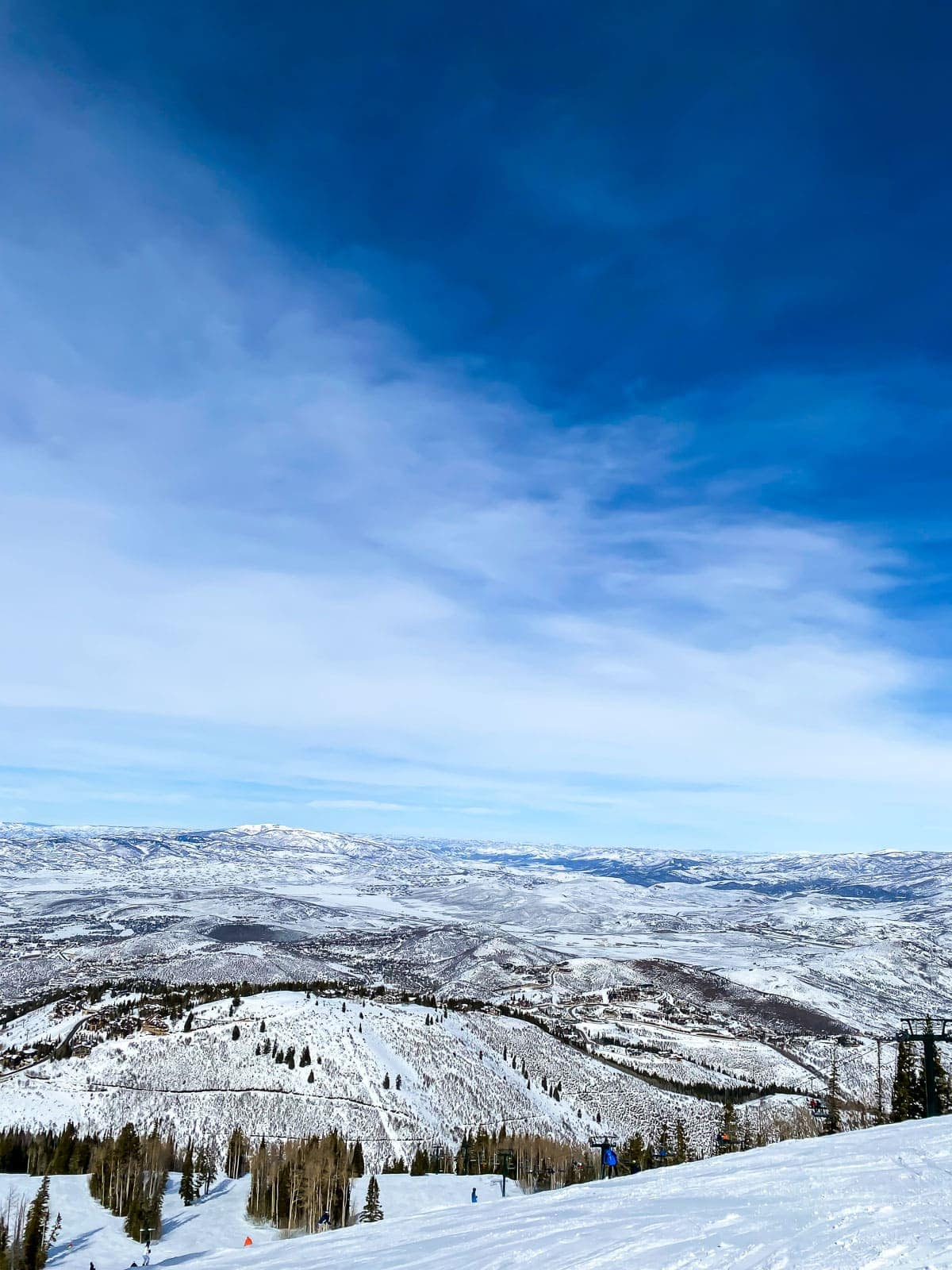 Deer Valley Wasatch Mountains covered in snow