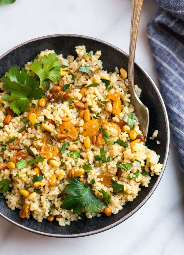 Moroccan Couscous Fast And Flavorful Side Dish Wellplated Com
