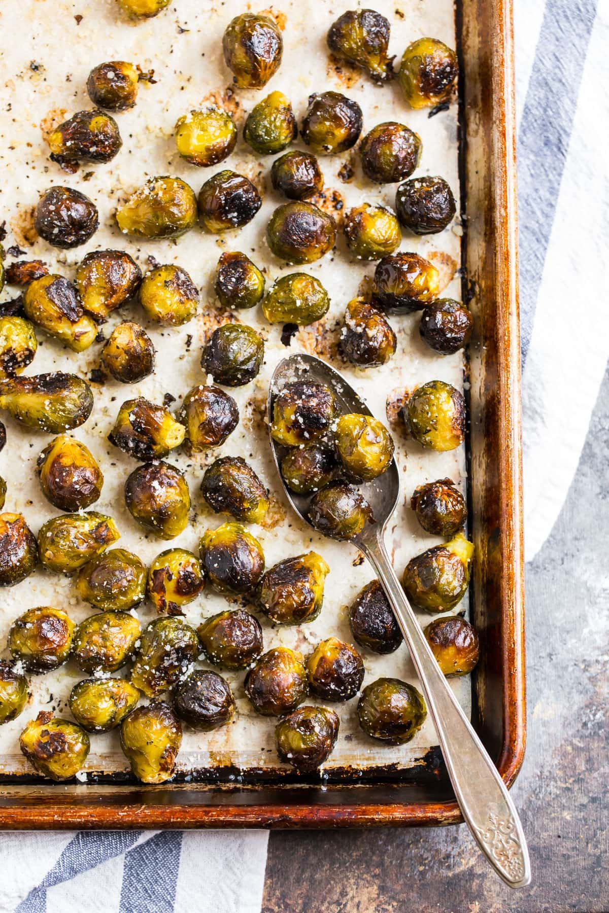 Roasted Frozen Brussels Sprouts Crispy And Easy Wellplated Com