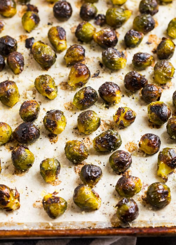 Tasty and healthy Brussels sprouts cooked from frozen