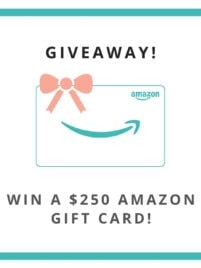 Giveaway for a $250 Amazon Gift Card