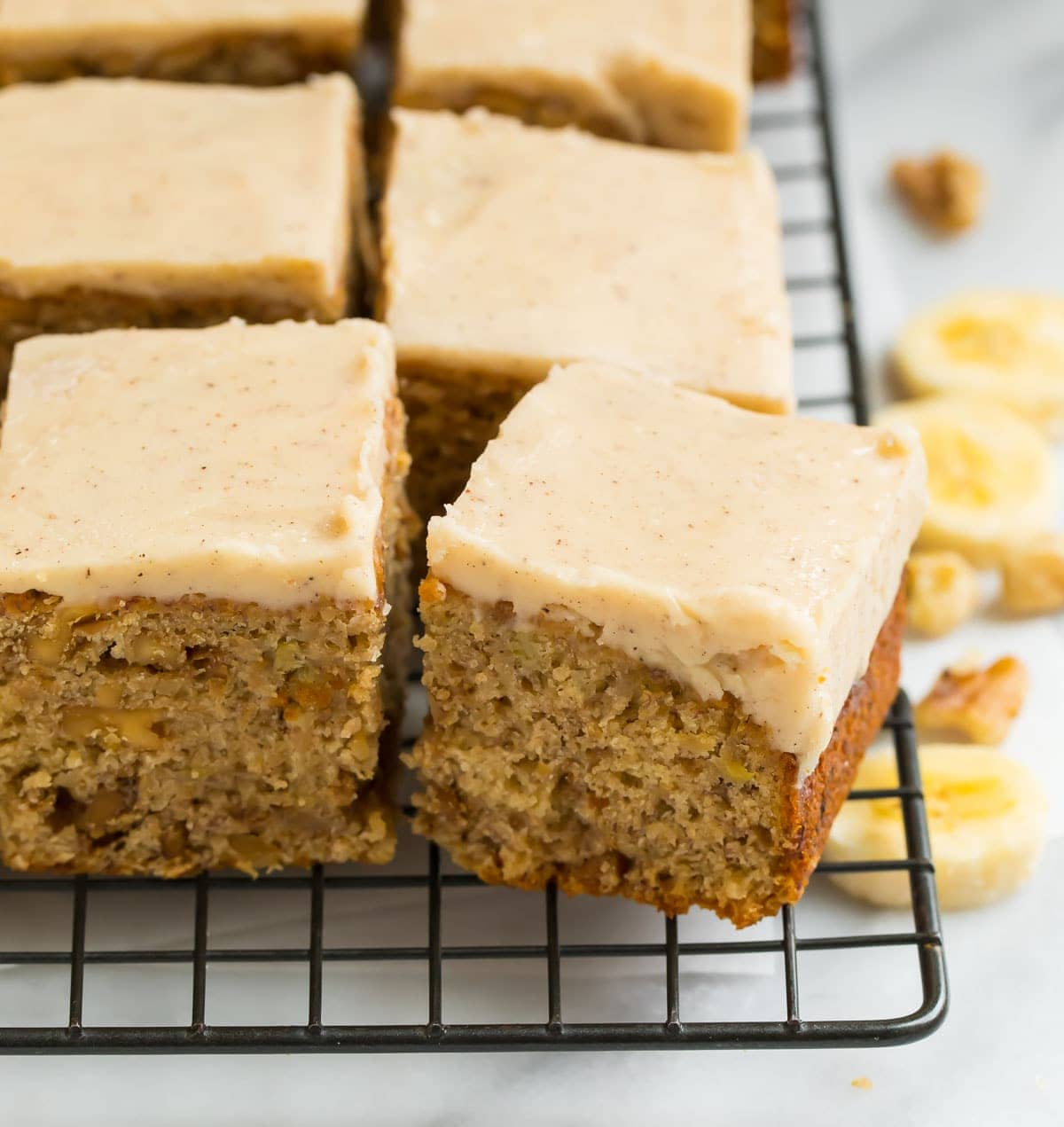 Banana Bread Brownies With Creamy Brown Butter Frosting Well Plated