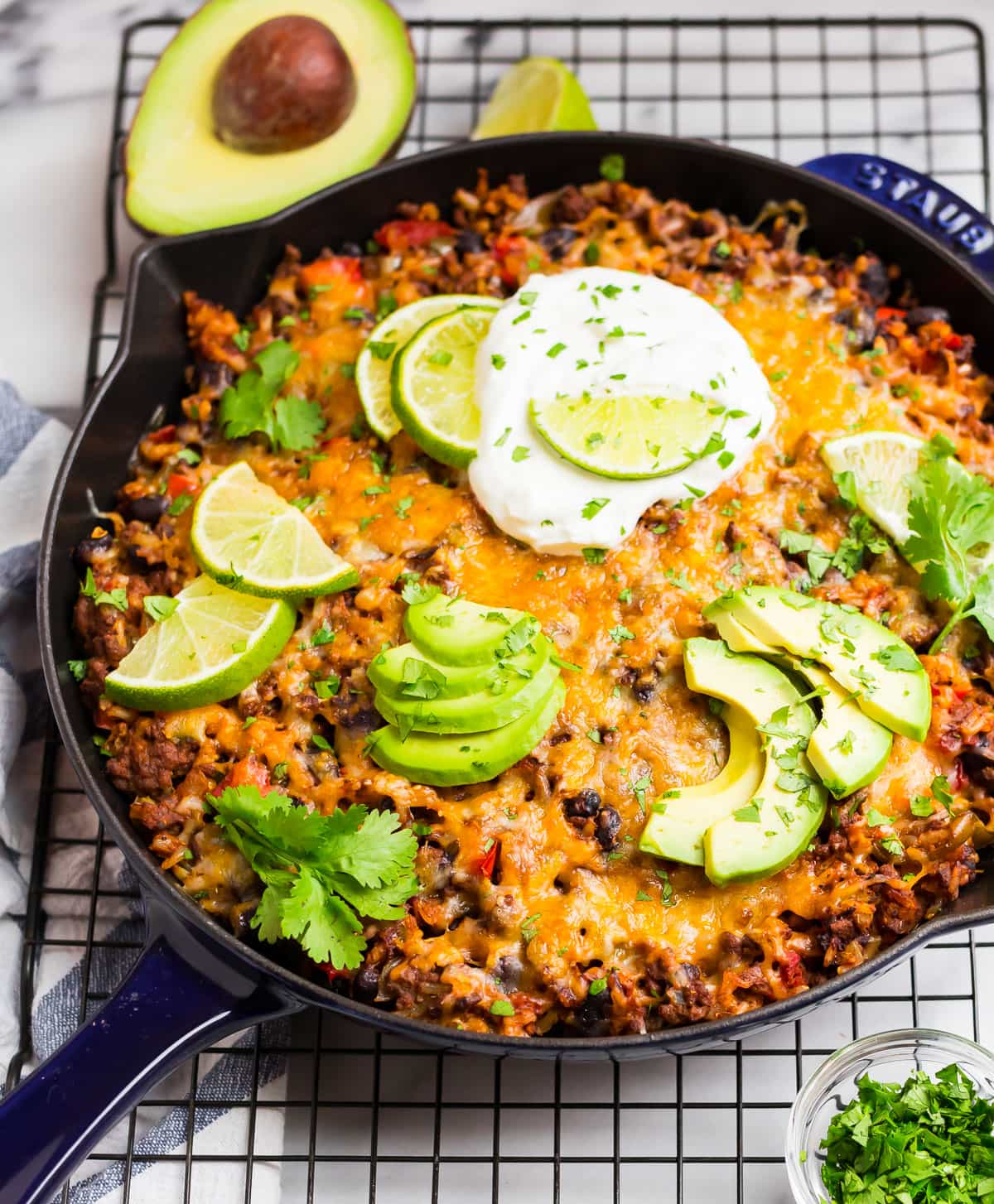 Taco Skillet Easy Healthy One Pan Meal Wellplated Com