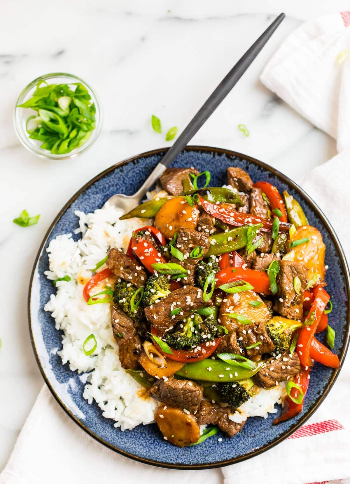 Teriyaki Beef Stir Fry Fast And Healthy Wellplated Com
