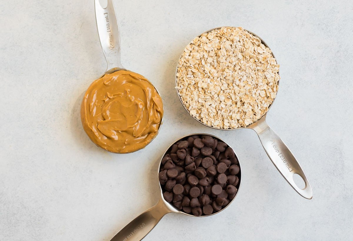 Peanut butter, oats, and chocolate chips