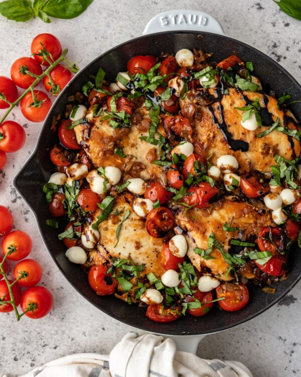 Caprese Chicken Skillet Recipe from the Well Plated Cookbook