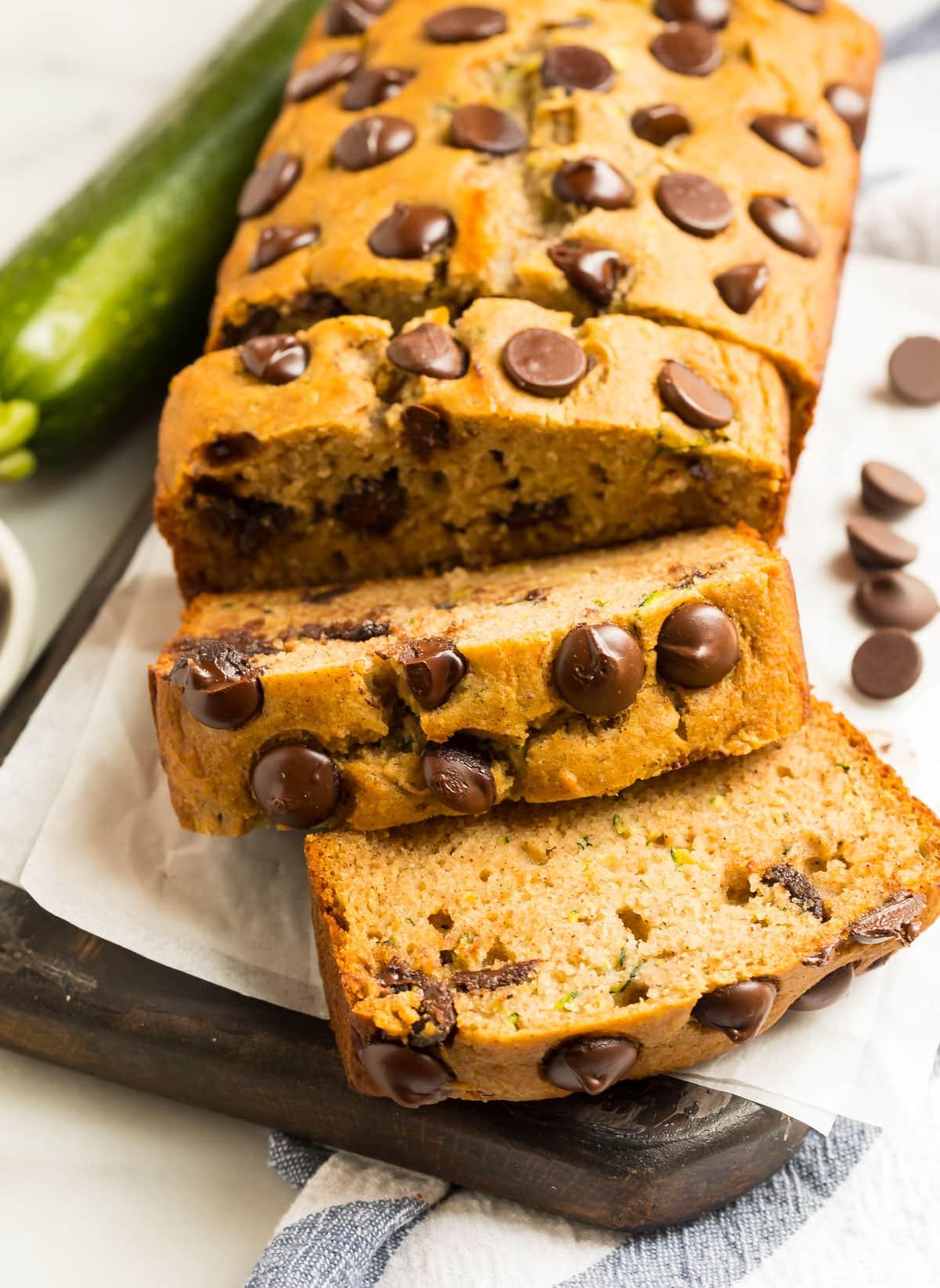 Healthy gluten free zucchini bread