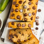 Easy gluten free zucchini bread with chocolate chips