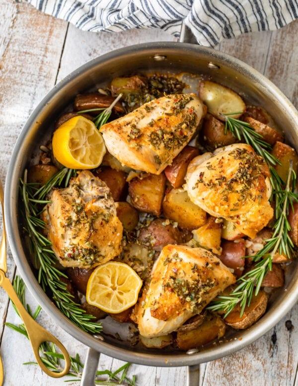 Rosemary Garlic Chicken with Potatoes