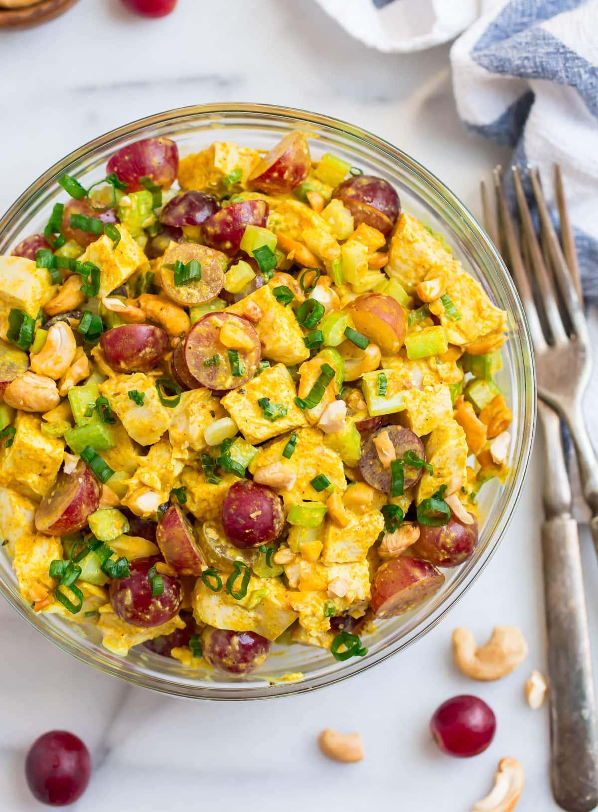 Curry Chicken Salad with Greek Yogurt  WellPlated.com
