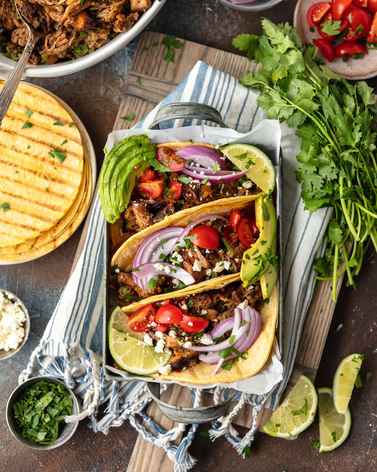 Crispy Pineapple Pork Tacos from The Well Plated Cookbook