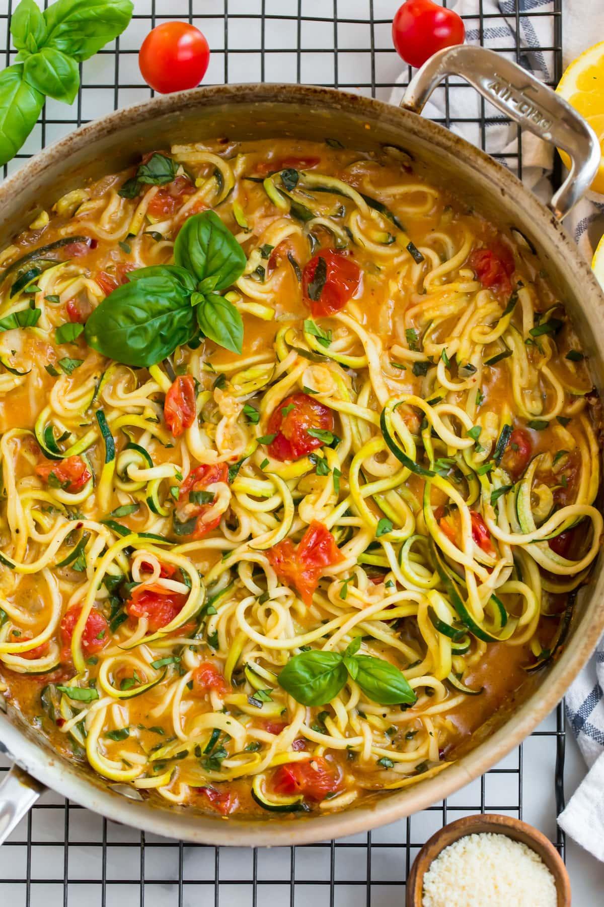 Creamy and easy zucchini pasta
