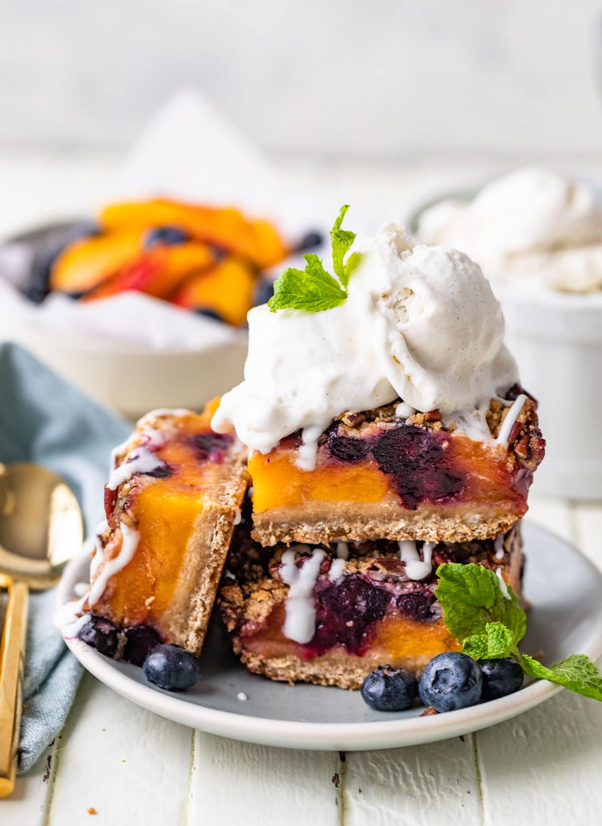 Sweet Summer Fruit Crumble Bars from The Well Plated Cookbook