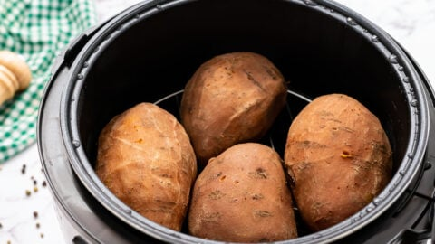 An Instant Pot with potatoes