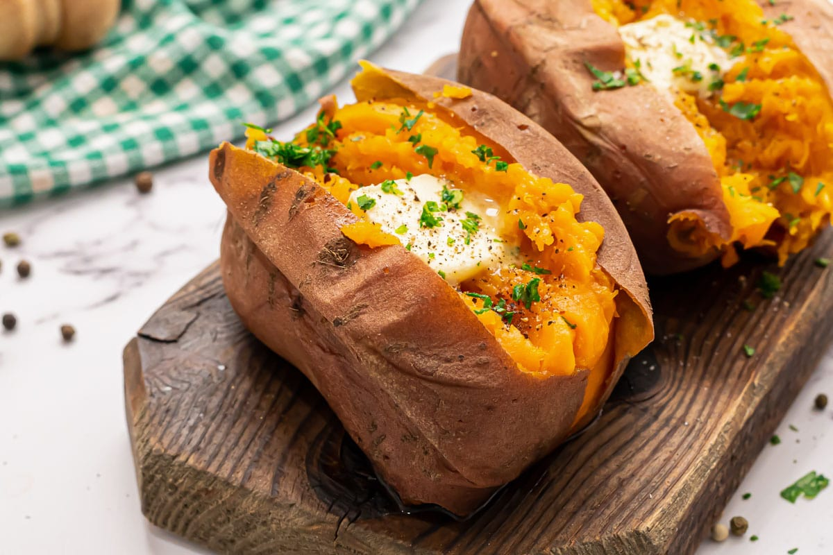 Easy Instant Pot sweet potatoes with butter