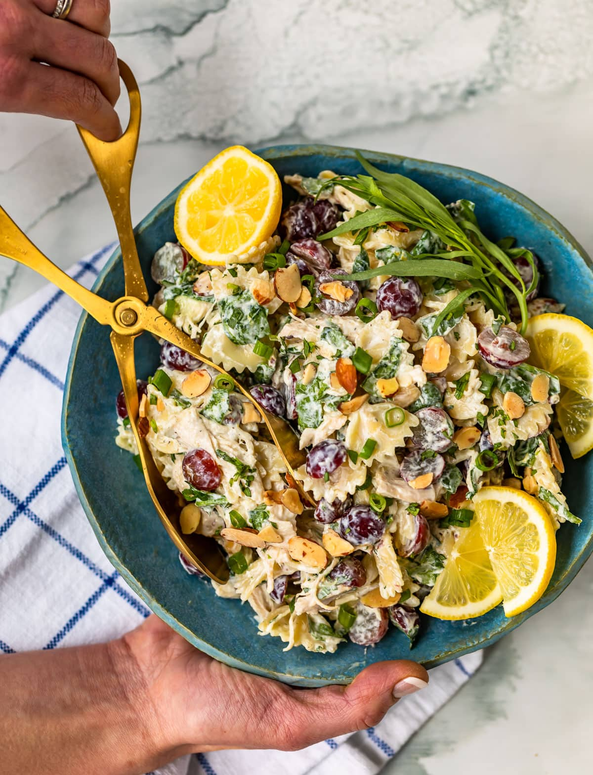 Lemon Chicken Pasta Salad from The Well Plated Cookbook