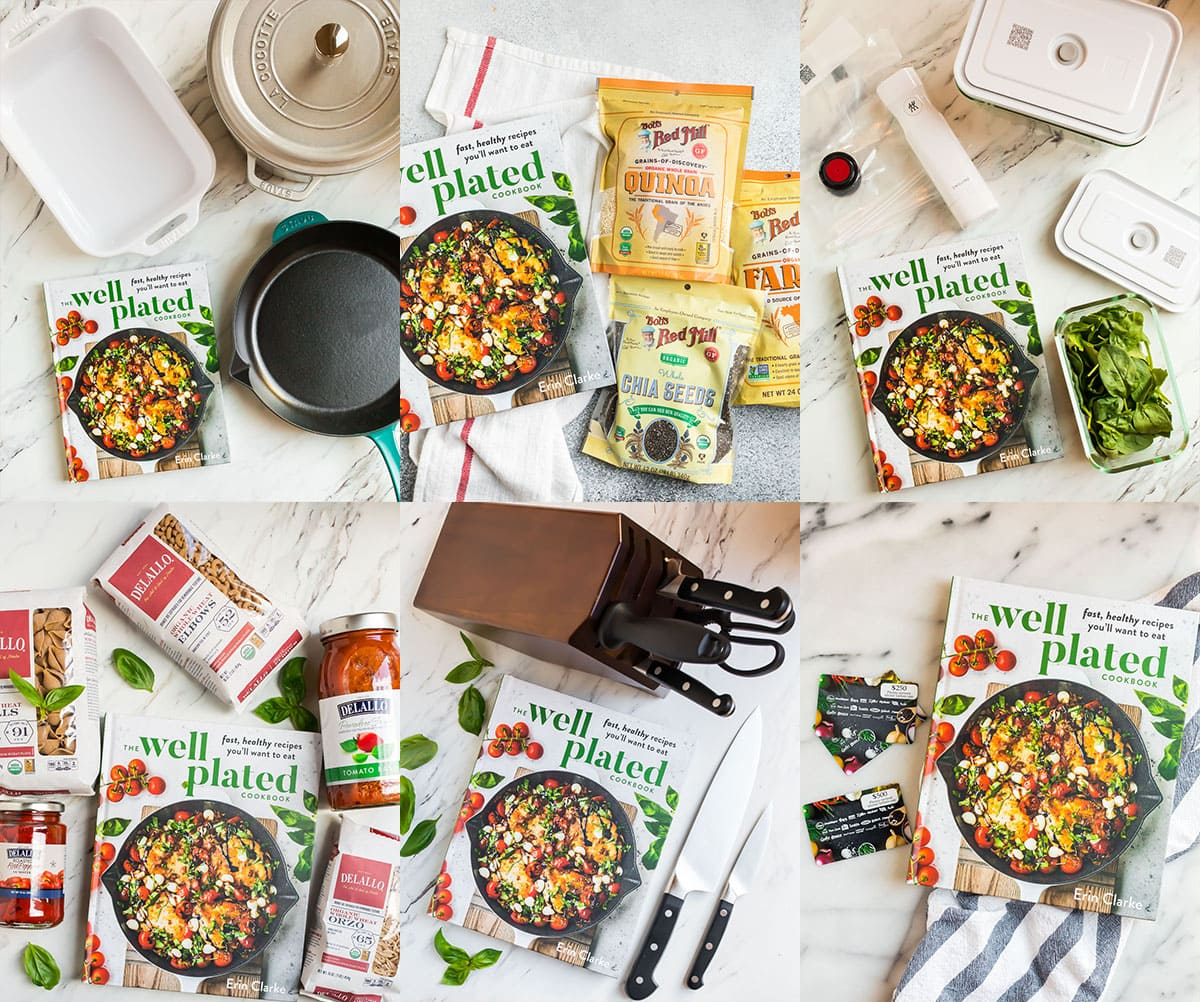 Well Plated Cookbook Giveaway with All Prizes