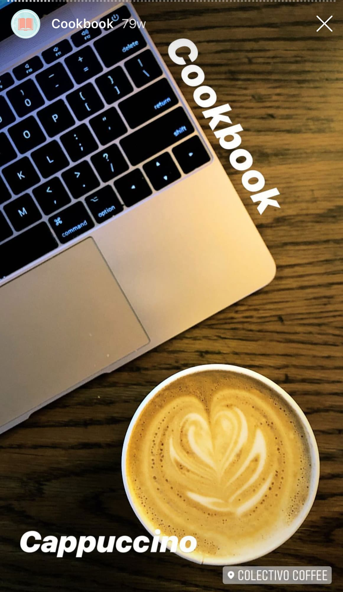 laptop and cappuccino