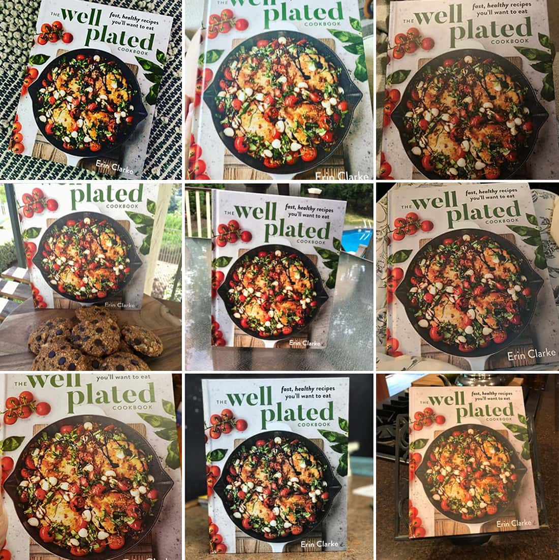 #WellPlatedCookbook Collage