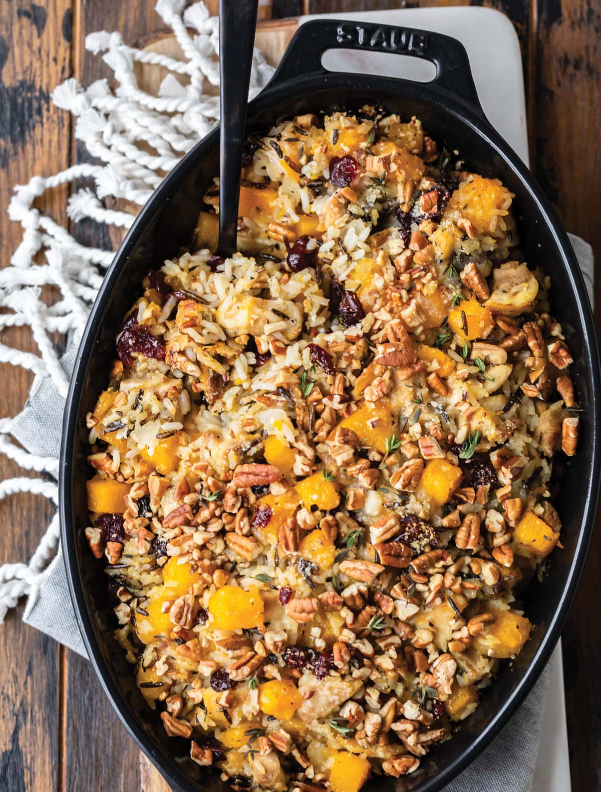 Butternut Squash Wild Rice Casserole from the Well Plated Cookbook