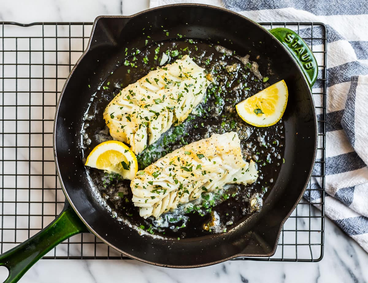 Pan Fried Cod Simple Recipe With Butter And Lemon Wellplated Com