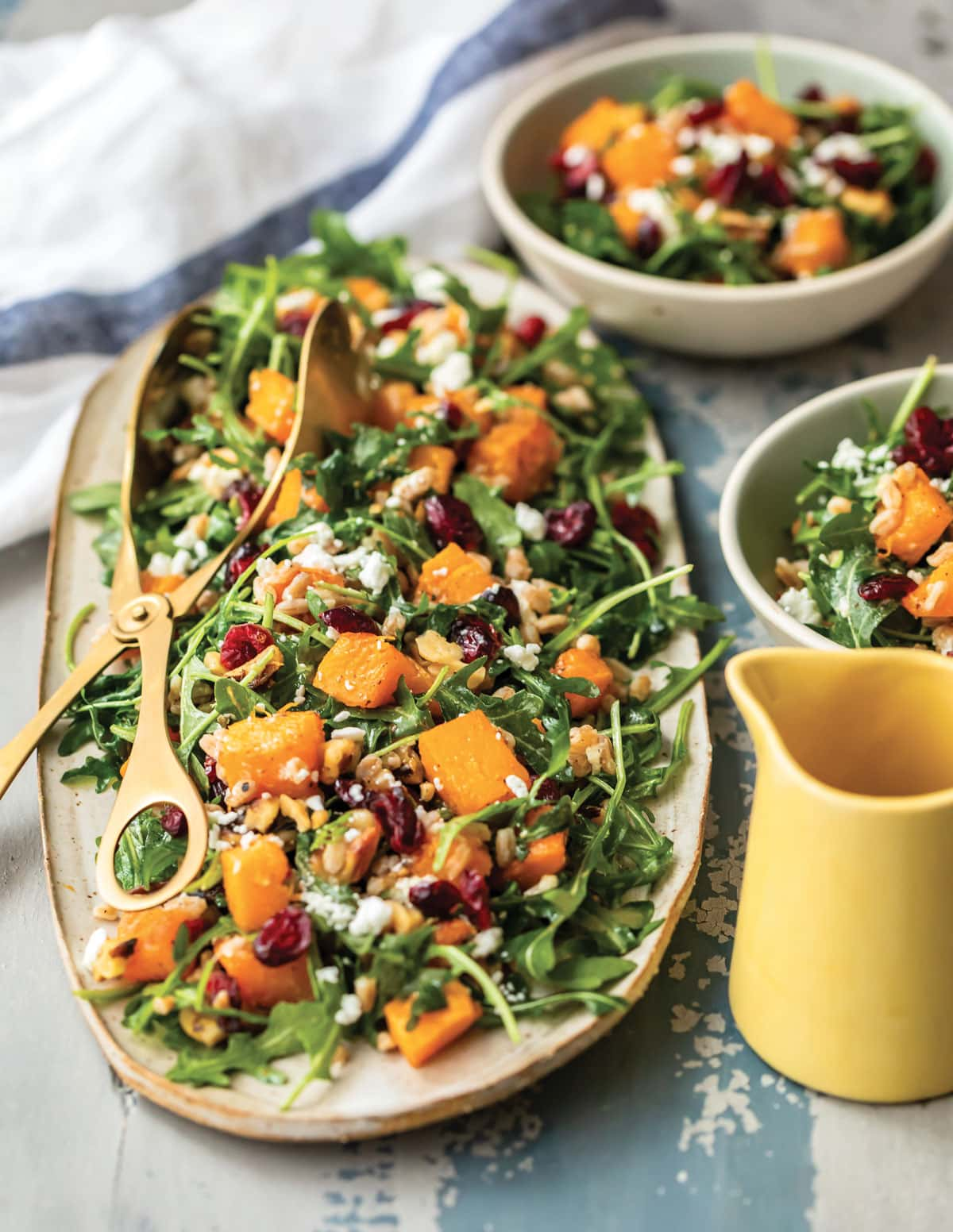 Maple Roasted Butternut Squash Salad from the Well Plated Cookbook