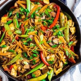 Verduras fáciles lo mein