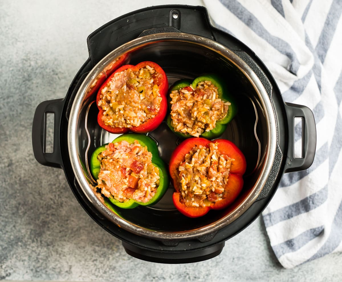 Stuffed bell peppers in an Instant Pot
