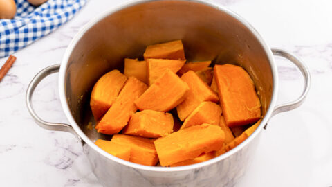 Sweet potatoes in a pot