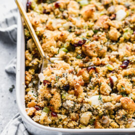 Easy cornbread stuffing with sausage