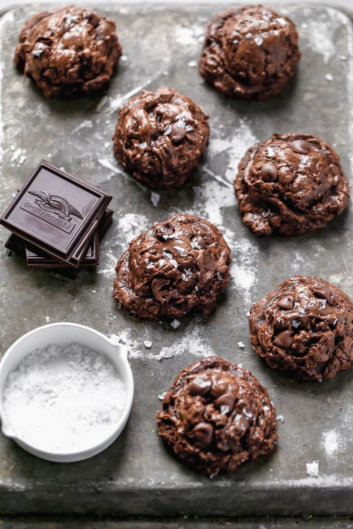 Sea salt and dark chocolate cookies