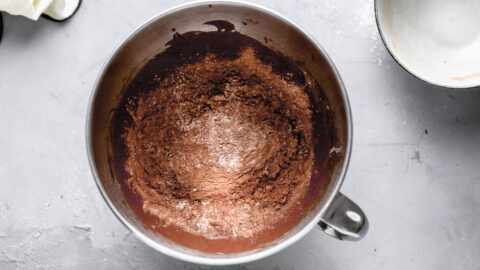 Baking ingredients in a bowl