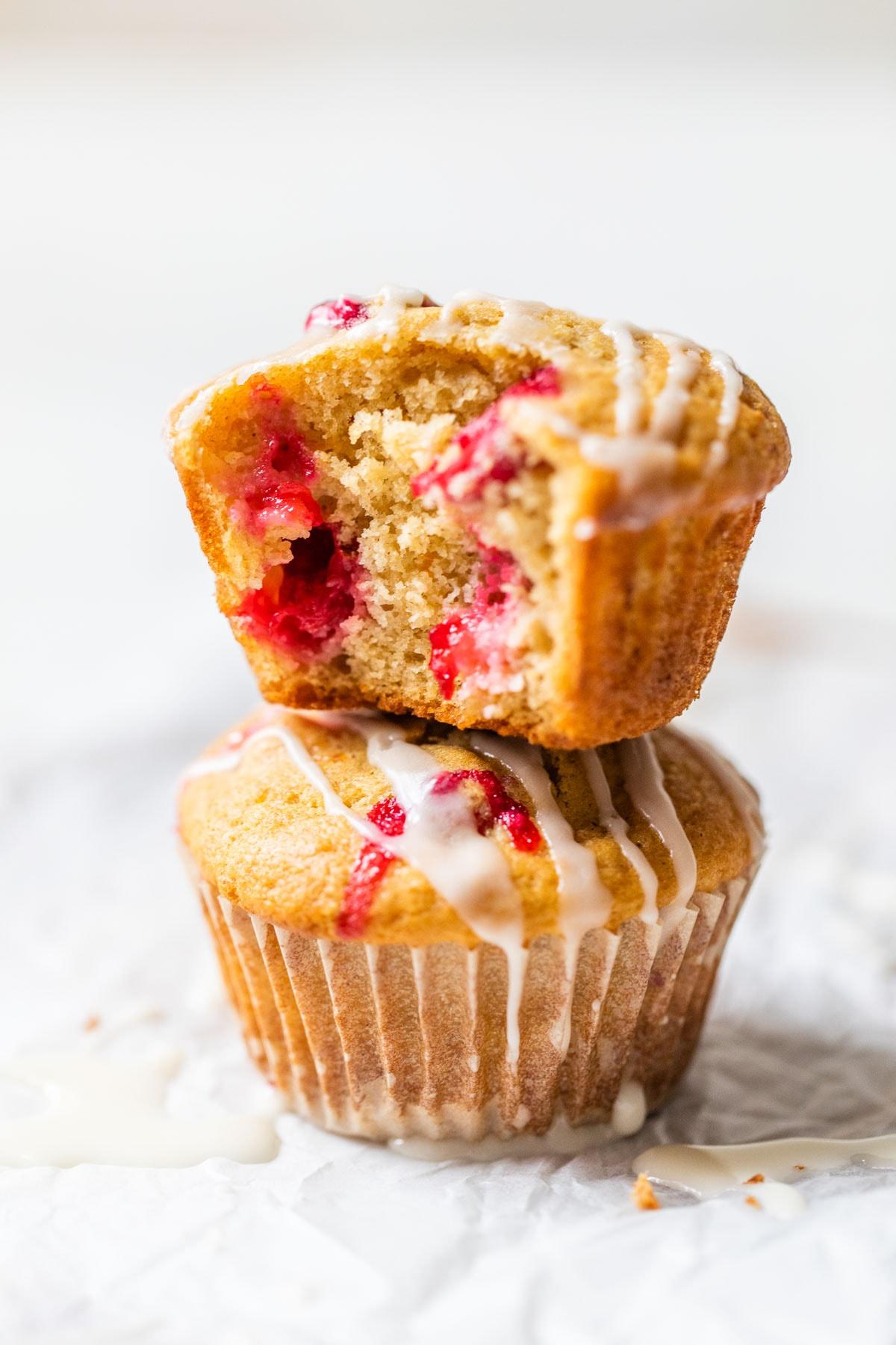 Two cranberry orange muffins