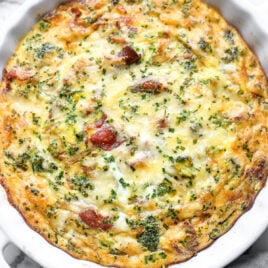 Crustless quiche with cheese