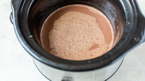 Hot chocolate in a slow cooker