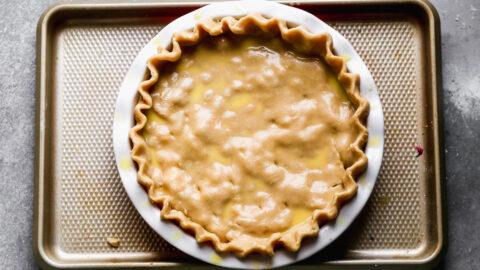 Pie crust in a dish