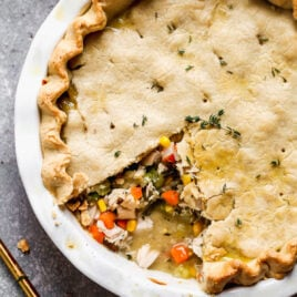 Turkey pot pie with gravy