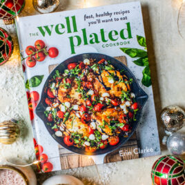 Well Plated Cookbook with Holiday Decor