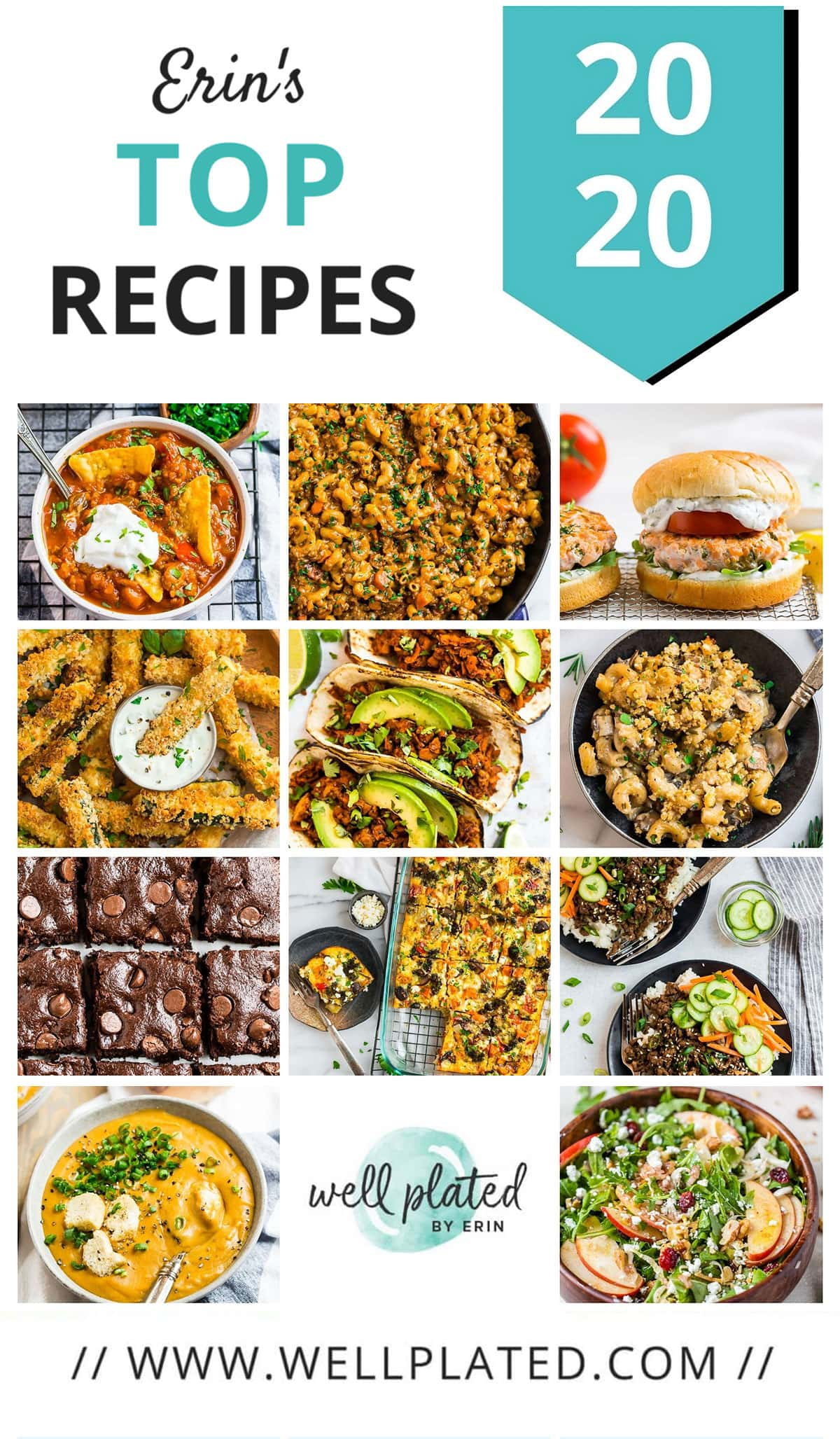 A collage of the best healthy recipes of 2020