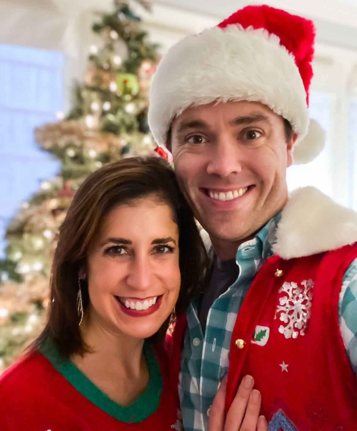 Erin Clarke and Ben on Christmas