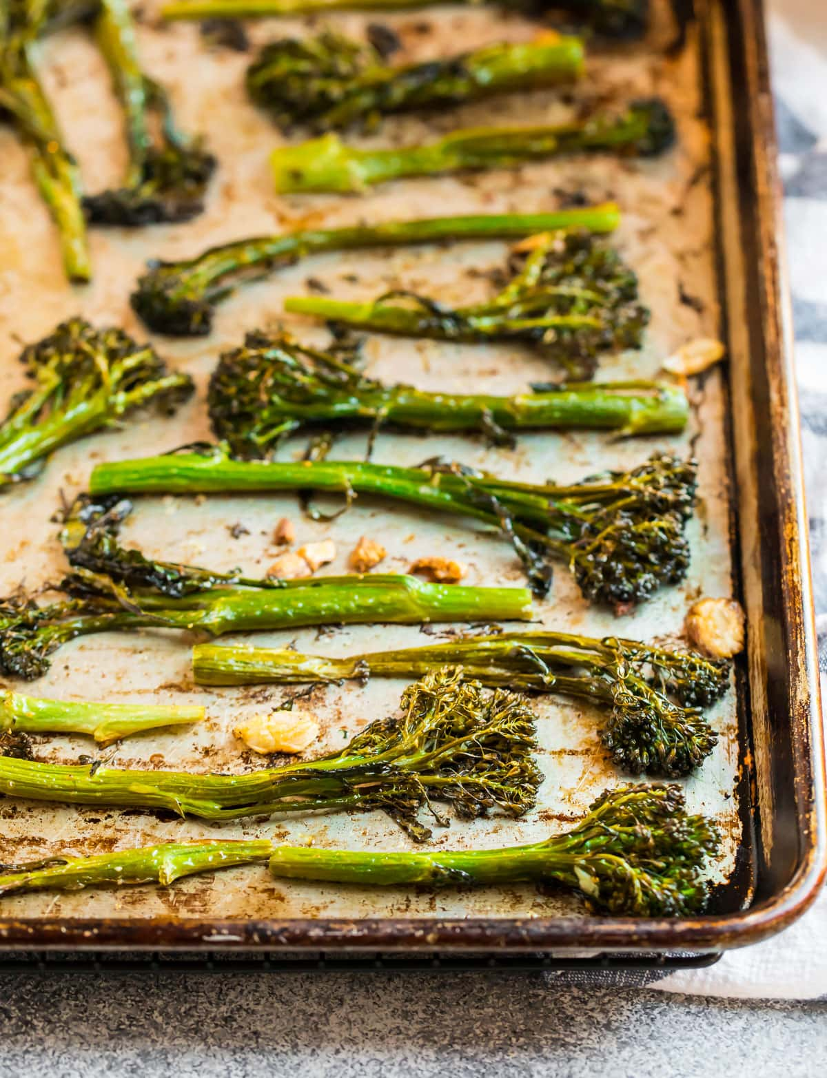 Easy roasted broccolini