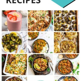 Collage of recipe photos from 2020