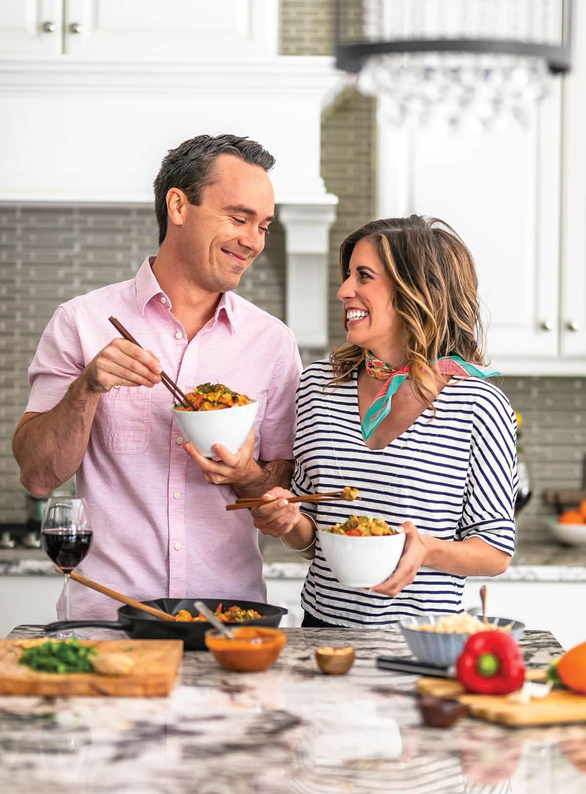 Thai Peanut Chicken Stir Fry photo with Erin Clarke and husband Ben