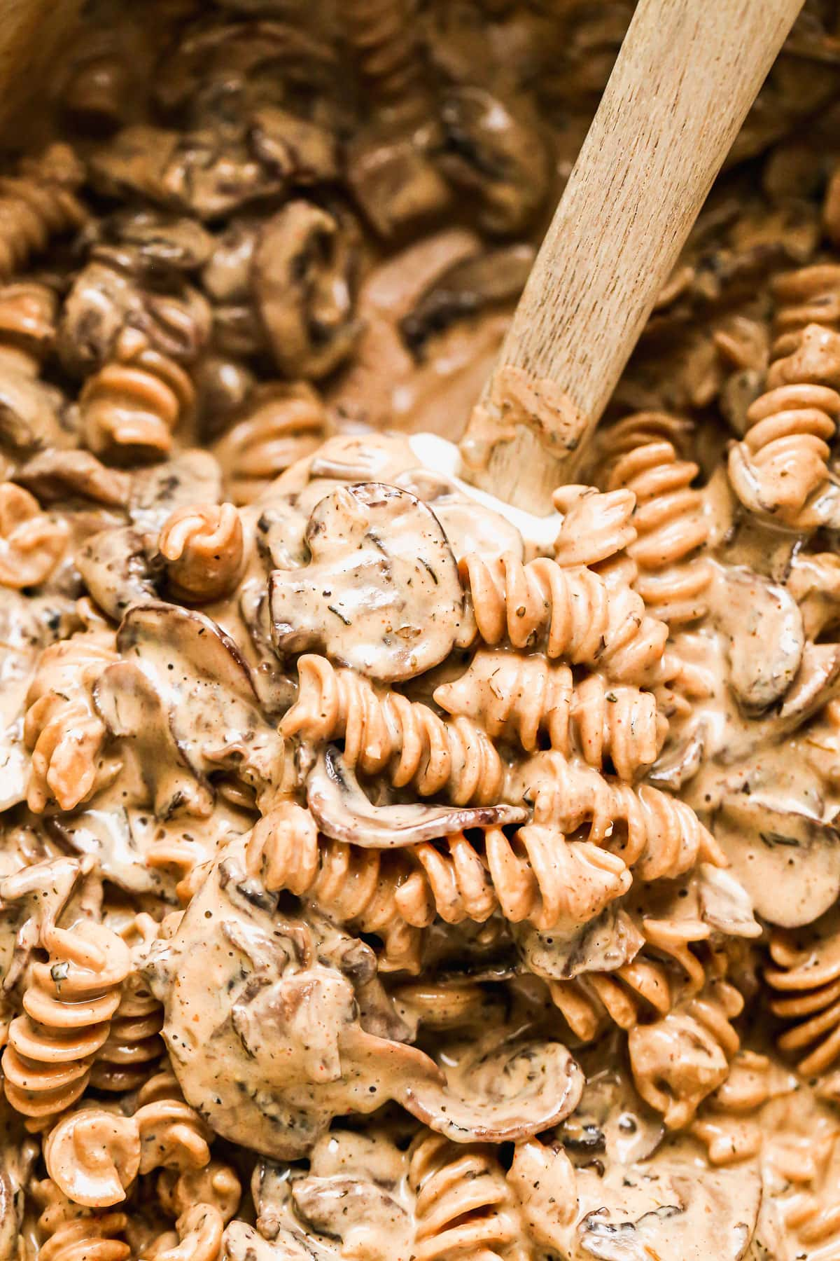 Creamy stroganoff with mushrooms