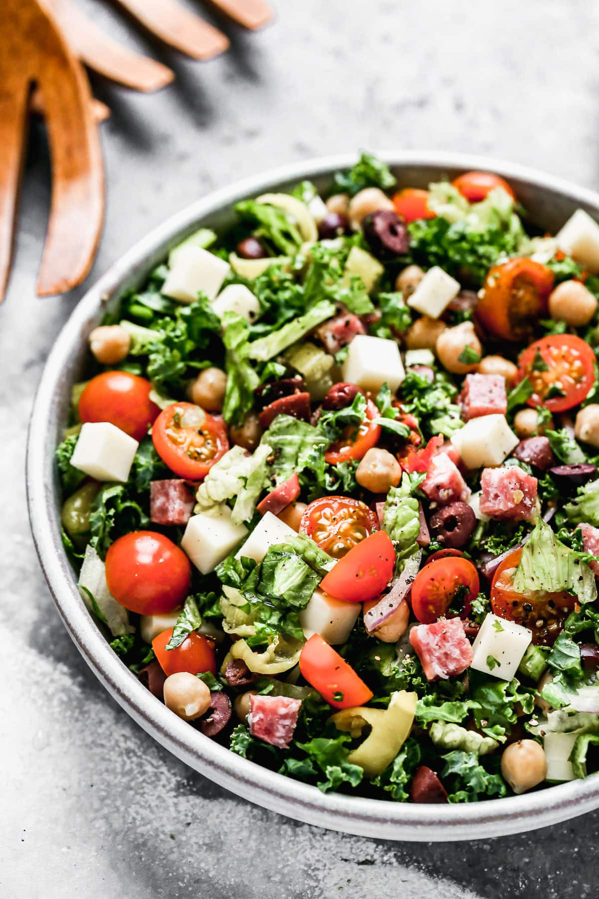 A bowl of Italian chopped salad
