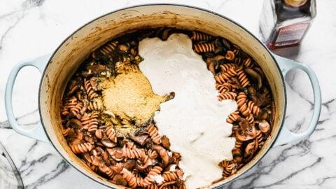 A pasta recipe in a Dutch oven