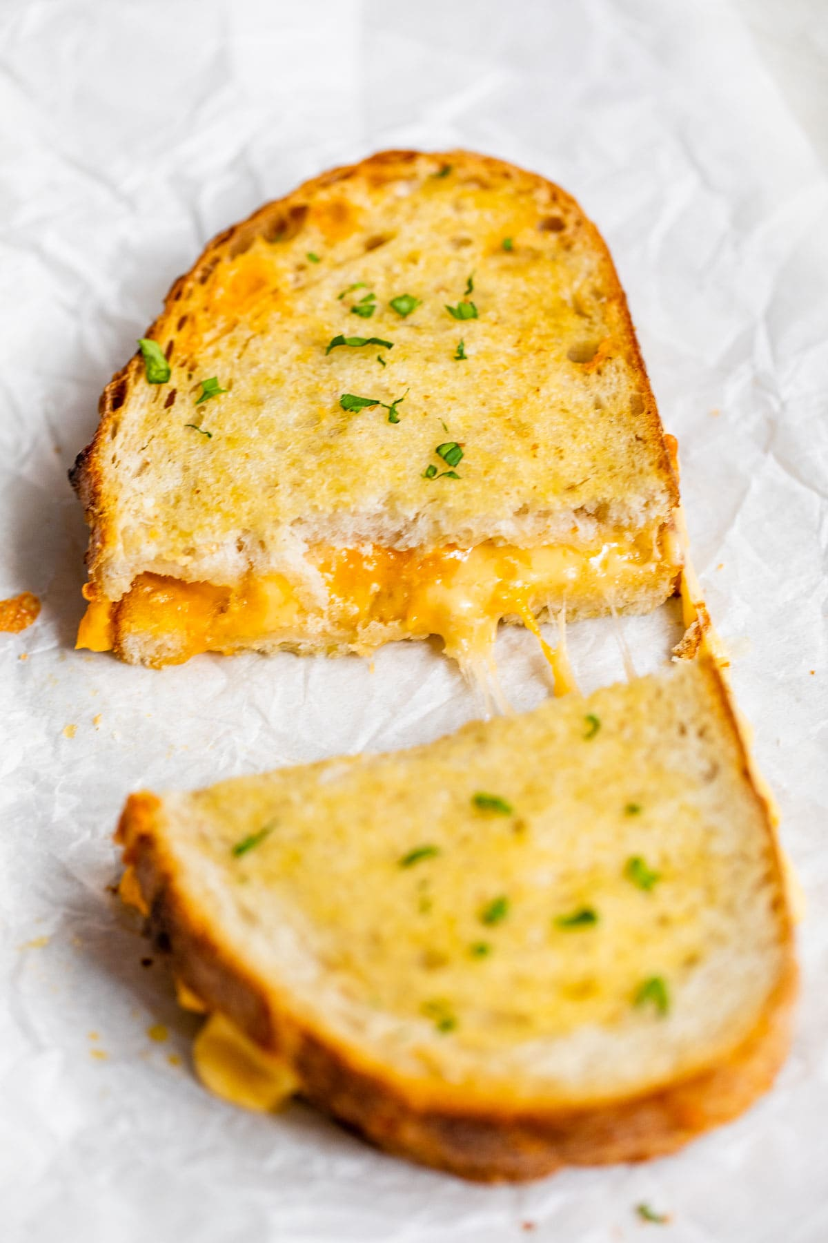 Cheesy air fryer grilled cheese